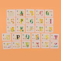 27Pcs Two-sided Flash Cards for Kindergarten Toddlers Preschool  Alphabet