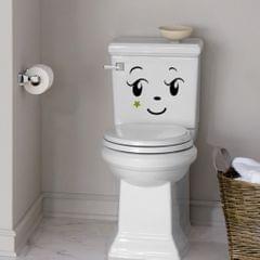 Creative Cartoon Toilet Seat Sticker Toilet Decal Bathroom Funny Decor Color_2