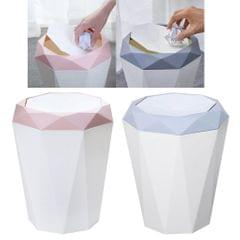 Rubbish Bin Trash Can Modern Simple Home Waste Rubbish Garbage Bin Blue