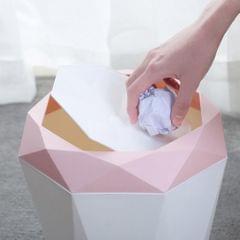 Rubbish Bin Trash Can Modern Simple Home Waste Rubbish Garbage Bin Pink