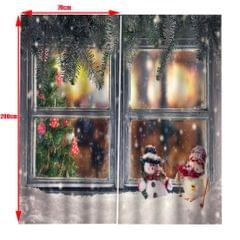 Christmas Living Room Bedroom Window Drapes 2 Panel Set 104x84inch A
