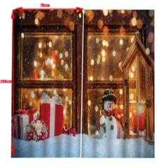 Christmas Living Room Bedroom Window Drapes 2 Panel Set 104x84inch F