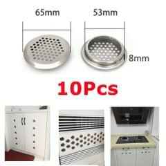 Cabinet Air Vents Cover Stainless Steel Round Vent Mesh Hole Louver 53mm