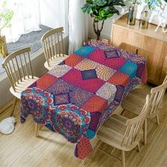 American Rectangular Polyester Tablecloth Table Cover Kitchen Flower 140cm