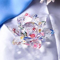 Crystal Lotus Flower Crafts Paperweights Glass Lotus Model Multicolored