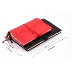 Portable Leather Notebook Blank Page, Travel Journal Diary Notes Iron Grey