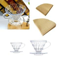 40Pieces Home Kitchen Disposable unbleached coffee filters Cones 1  to 2 Cup
