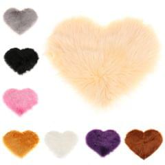Love Shape Shaggy Soft Sheepskin Area Rug Faux Fur Rug 5cm Pile White