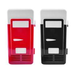 USB Mini Fridge Drink Cooler Refrigeration System Small Refrigerator Red