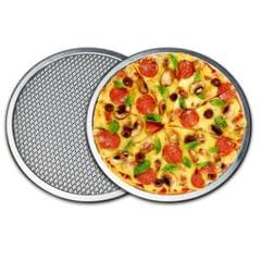 Aluminium Flat Mesh Pizza Screen Oven Baking Tray Net Bakeware 14inch
