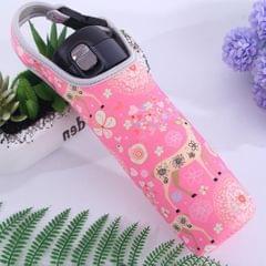 Neoprene Thermal Travel Vacuum Mug Bottle Bag Tote Cover Holder Pink Deer