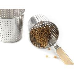 Kitchen Noodle Strainer with Hook, Stainless Steel, Deep Fry Basket  14cm