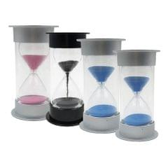 Colorful Sandglass Hourglass Sand Clock Timer for Game Black 10 Seconds