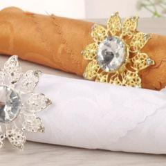 Creative Napkin Buckle Napkin Ring Wedding Party Napkin Holder  Golden