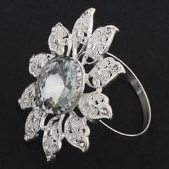 Creative Napkin Buckle Napkin Ring Wedding Party Napkin Holder  Silver