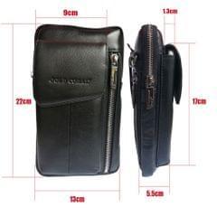Handbag Purse Strap Pouch Universal Phone Crossbody Leather Bag  black