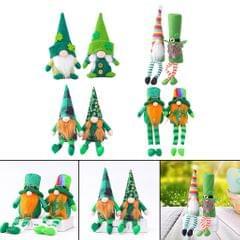 2 Pieces St. Patrick's Day Gnome Leprechaun Swedish Gnome Ornaments Style1