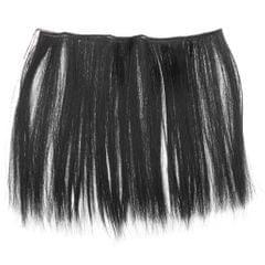 25cm Fashion Doll Long Straight Hair Wig DIY Making Accessory Black