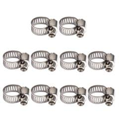 10Pcs Adjustable Fuel Petrol Pipe Hose Clips Stainless Spring Clamp 8-12mm