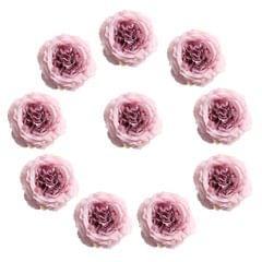 10 Pieces Artificial Silk Rose Flower Heads Wedding Decorations Pink