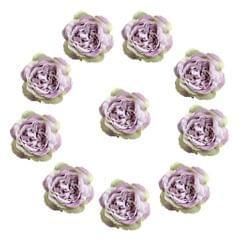 10 Pieces Artificial Silk Rose Flower Heads Wedding Decorations Violet