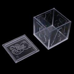 """12 Pieces Clear Bear Baby Square Candy Gift Boxes for Baby Shower 2"""" White"""