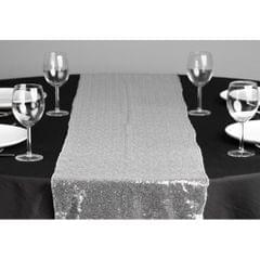 Sequin Mesh Table Skirt Cover Wedding Banquet Party Decorations  Silver