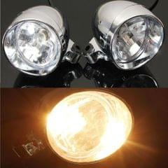 "2Pcs 4"" Chrome Motorcycle Bullet Front Headlight Fog Light Lamp for Harley"
