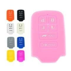 Car Remote Key Silicone 6 Buttons Protective Case Cover For Honda Pink