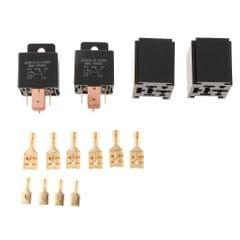 2 Pieces JD2912 Automotive Car 12V 80A 5 Pin SPDT Starter Relay with Sockets