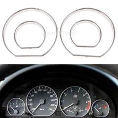 Auto Chorm Speedometer Gauge Dial Rings Bezel Trim for BMW E46 M3 2000-2006