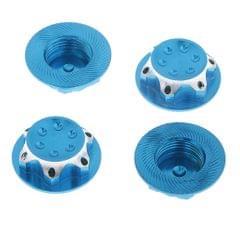 4Pcs Aluminum Wheel Hub Cover 17mm Hex Nut for RC 1/8 Model Car Parts Blue