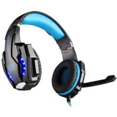 Deep Bass Game Headphone Sound Over-Ear Gaming Headset w/ LED Light Red blue
