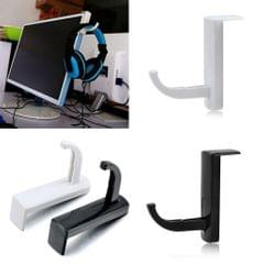Headphone Headset Hanger Holder Wall PC Monitor Stand Hook Sticky Black