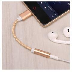 USB-C Type C to 3.5 mm Headphone Jack Adapter Earphone Audio Cable Gold