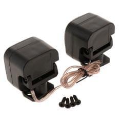 Pair of 500W Mini Car Silk Square Tweeters Speakers for Car Audio System