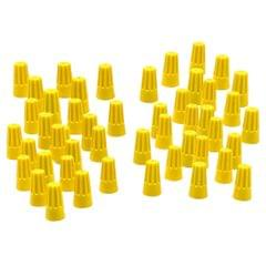 100 Pieces Electrical Wire Connector Twist-On Easy Screw On Type Caps Yellow