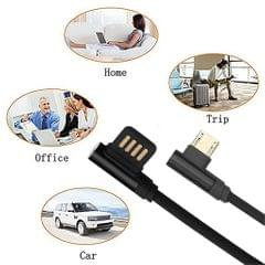 Micro USB Cable Charging Bent Charge Data Mobile Phone Cable gold