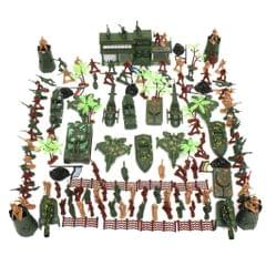 146 Piece Plastic Soldier 5cm Army Figures Playset for Army Sand Scene Model