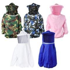 Beekeeping Jacket Veil Bee Protecting Suit Dress Smock Equipment Blue Camo