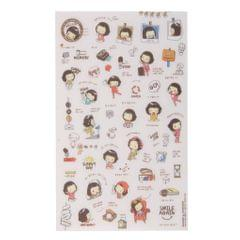 5 sheets Korean Cooky's Helloday stickers adhesive journal Diary scrapbook