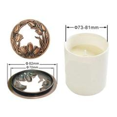 Jar Candle Toppers Accessories Sleeves Lid Flower Style brass