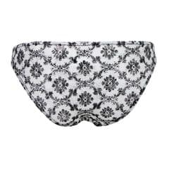 Sheer Floral Lace Panties Stretchy Low Rise Briefs Underwear Black 2XL