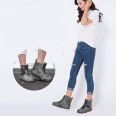 Kids Men Women Reusable Waterproof Rain Shoe Cover Overshoes Gray Size 6
