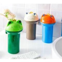 Kids Baby Bath Rinse Shampoo Water Bottle Easy Wash Baby Bathing Cup blue