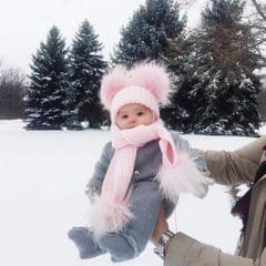 Cute Newborn Baby Girls Boys Winter Knitted Hats Caps Beanies Red