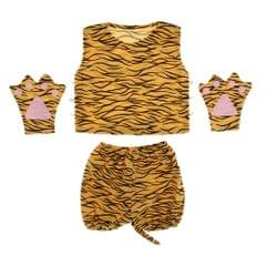 Kids Animal Costume Set Tiger Hat Top Shorts Gloves Shoes Party Halloween