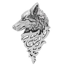 Retro Wolf Brooch Pin Badge Lapel Pin Shirt Suit Men Jewelry Antique Silver