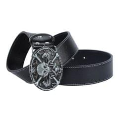 Unisex Fashion Strap Belt Waistband Metal Buckle Belt Wide Waist Belt Black