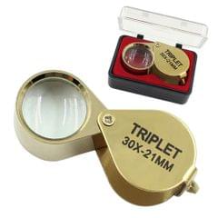 30X 21mm Jeweler Loupe Eye Magnifying Glass Magnifier